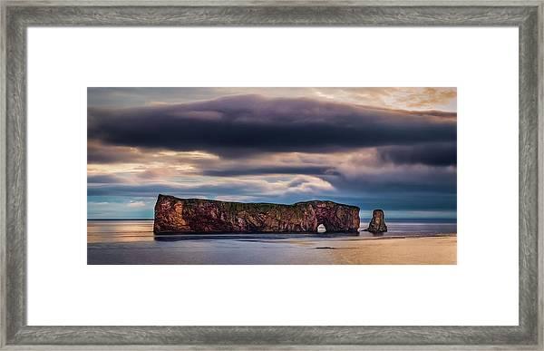 Perce Sunrise Framed Print