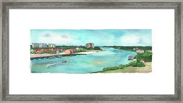 Perdido Key River Framed Print