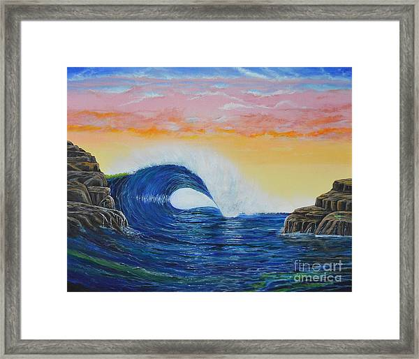 Perfect Curl Framed Print