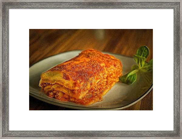 Perfect Food Framed Print