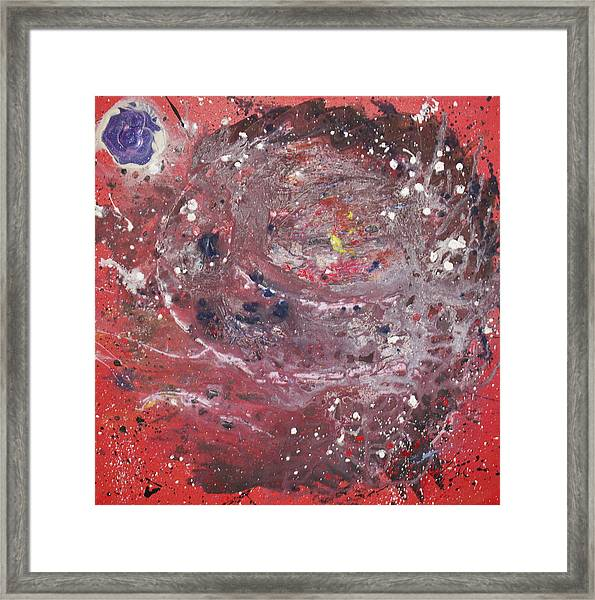 Framed Print featuring the painting Perfect Storm by Michael Lucarelli