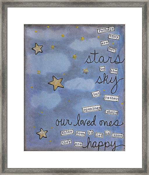 Perhaps They Are Not Stars Framed Print