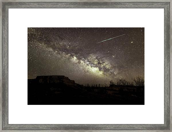 Perseids Milky Way Framed Print
