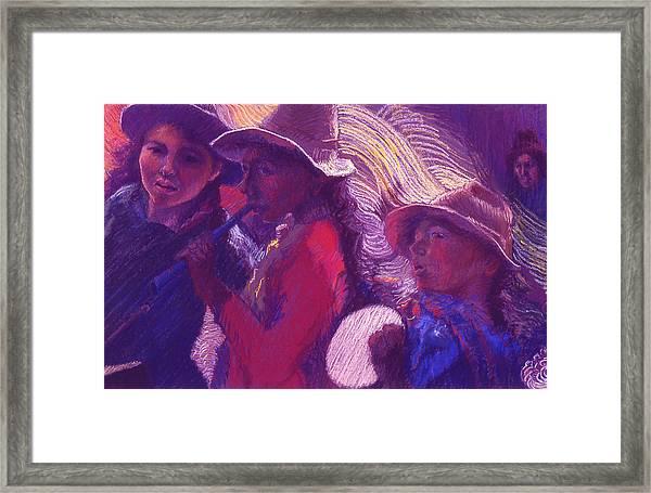 Peruvian Musicians Framed Print