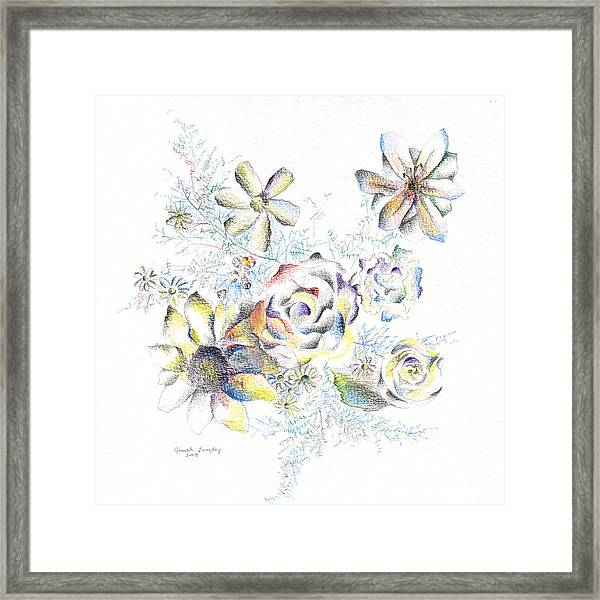 Petals On The Porch Framed Print