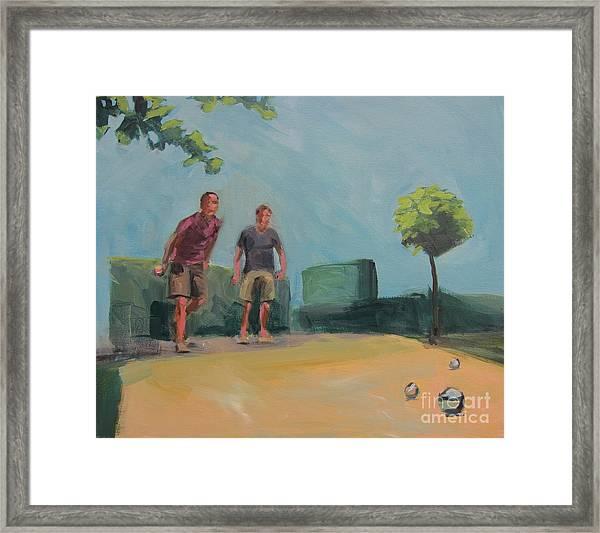 Petanque 6 Framed Print