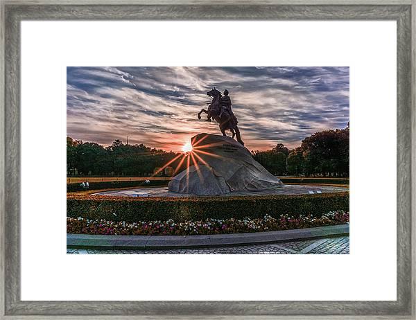 Peter Rides At Dawn Framed Print