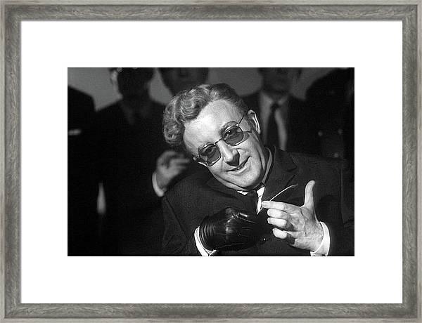 Peter Sellers As Dr. Strangelove Number One Color Added 2016 Framed Print