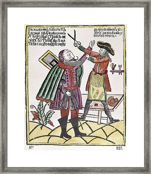 Peter The Great Cartoon Framed Print