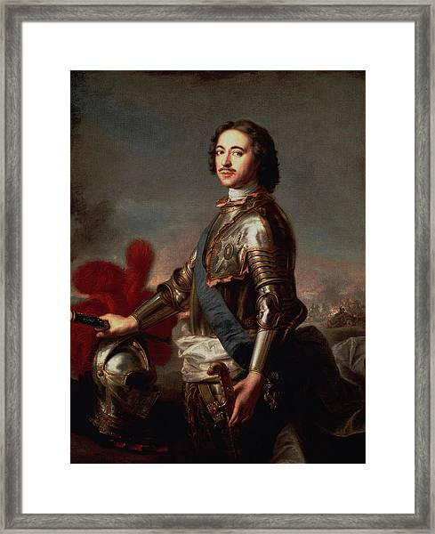 Peter The Great Portrait Framed Print
