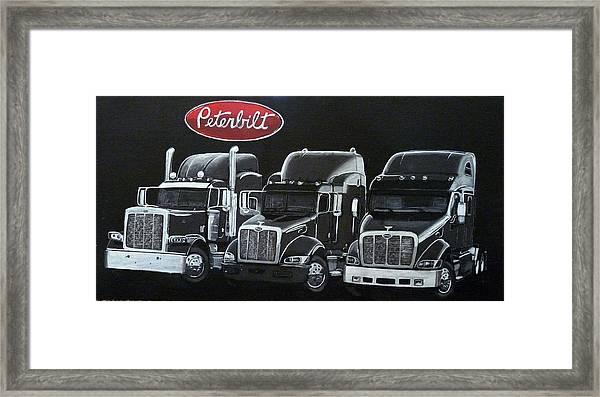 Peterbilt Trucks Framed Print