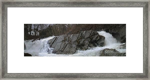 Petersburgh Falls Framed Print by Alan Del Vecchio