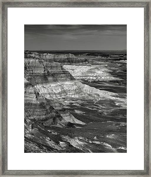Petrified Forest Mesa Framed Print by Joseph Smith