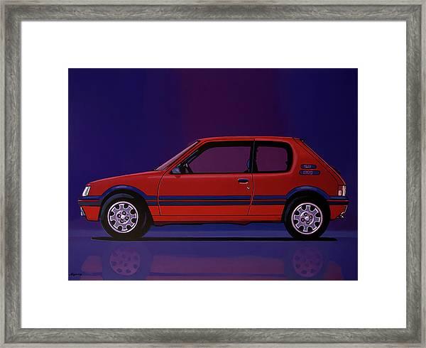 Peugeot 205 Gti 1984 Painting Framed Print