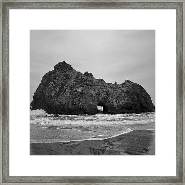Pfeiffer Beach II Bw Framed Print