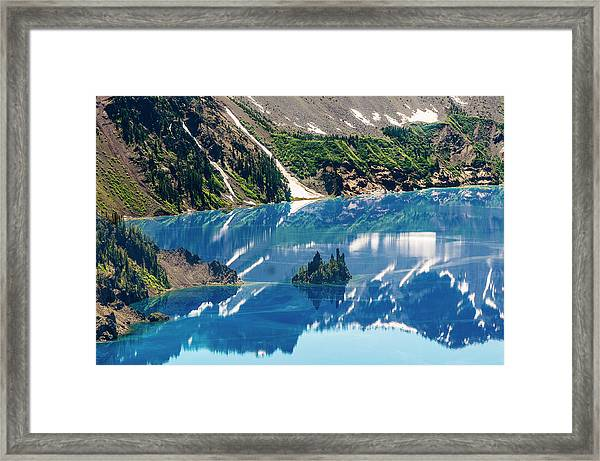 Phantom Ship Island Framed Print