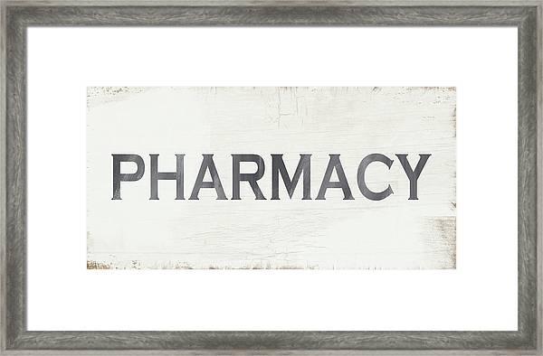 Pharmacy Sign- Art By Linda Woods Framed Print