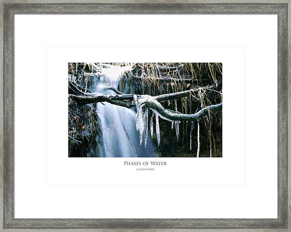 Phases Of Water Framed Print