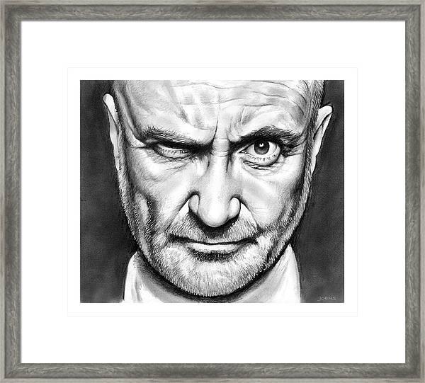 Phil Collins Framed Print