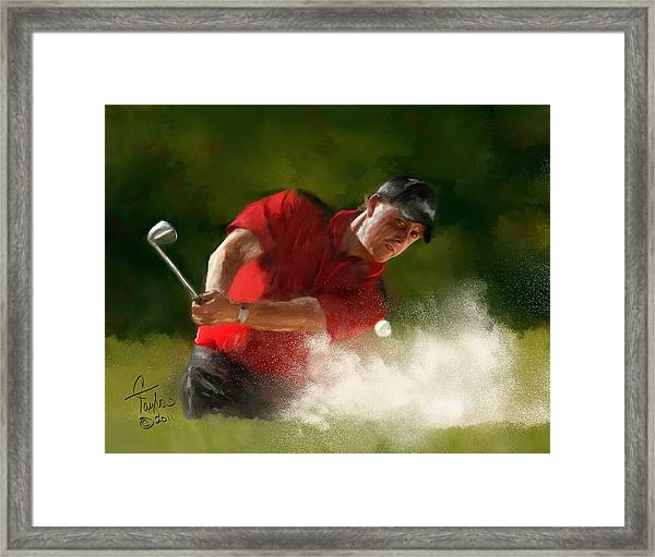 Phil Mickelson - Lefty In Action Framed Print