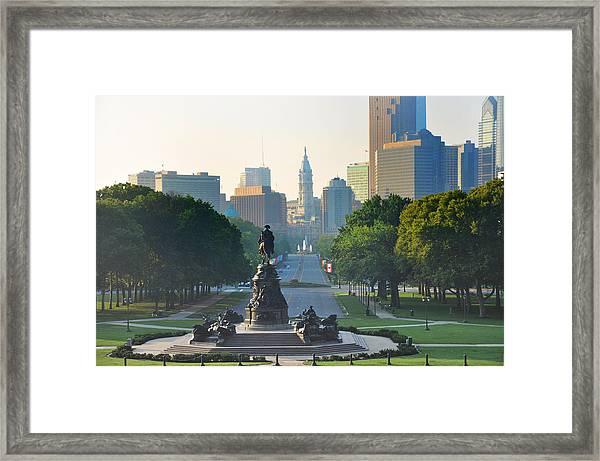 Philadelphia Benjamin Franklin Parkway Framed Print