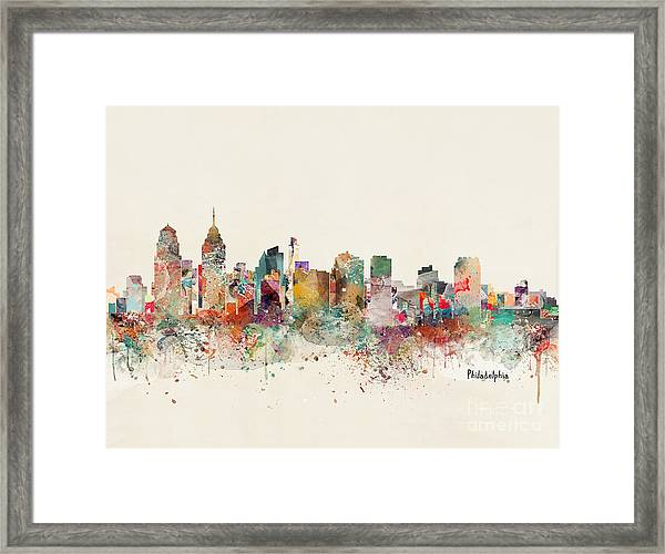 Philadelphia City Skyline Framed Print