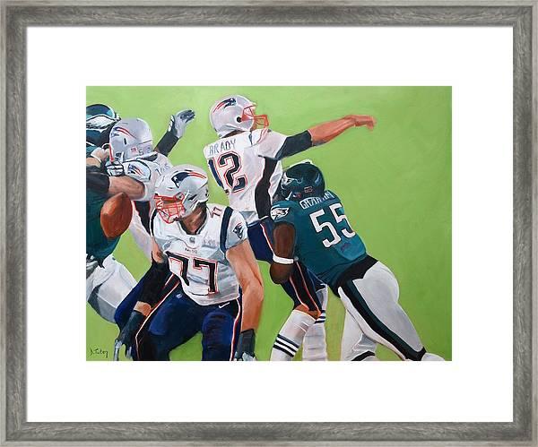 Philadelphia Eagles Strip-sack Of Tom Brady In Super Bowl Lii  Framed Print