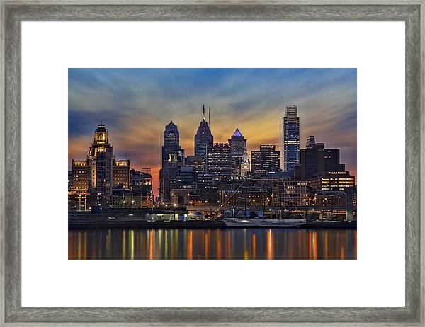 Framed Print featuring the photograph Philadelphia Skyline by Susan Candelario