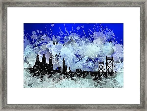 Philadelphia Skyline.1 Framed Print
