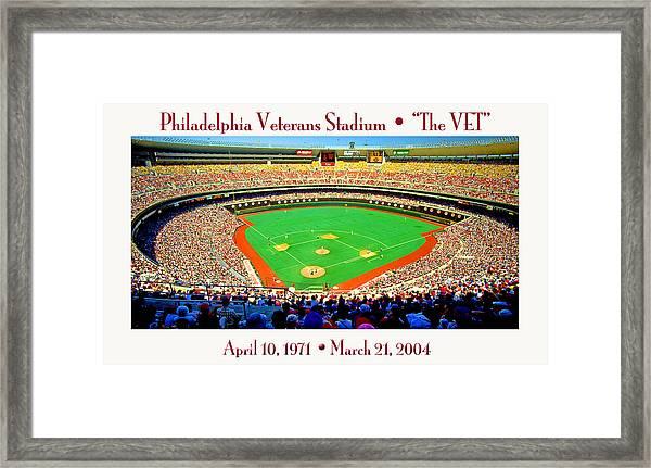 Philadelphia Veterans Stadium The Vet Framed Print