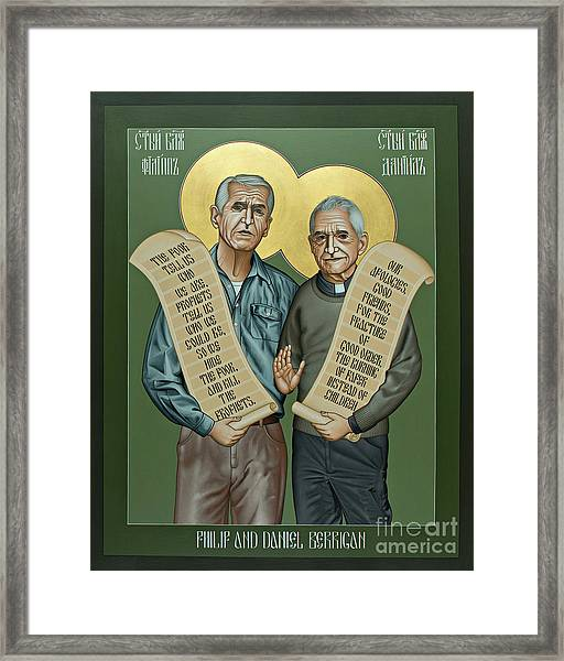 Philip And Daniel Berrigan Framed Print