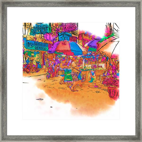 Philippine Open Air Market Framed Print