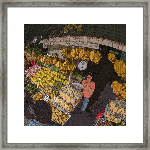 Philippines 3575 Saging Sales Lady Framed Print