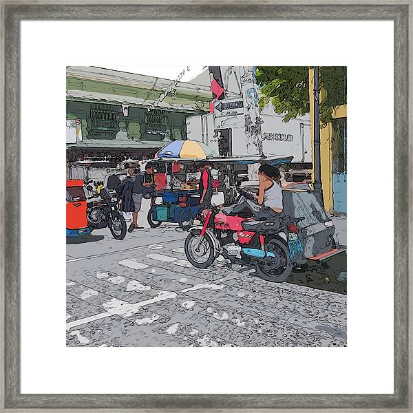 Philippines 673 Street Food Framed Print