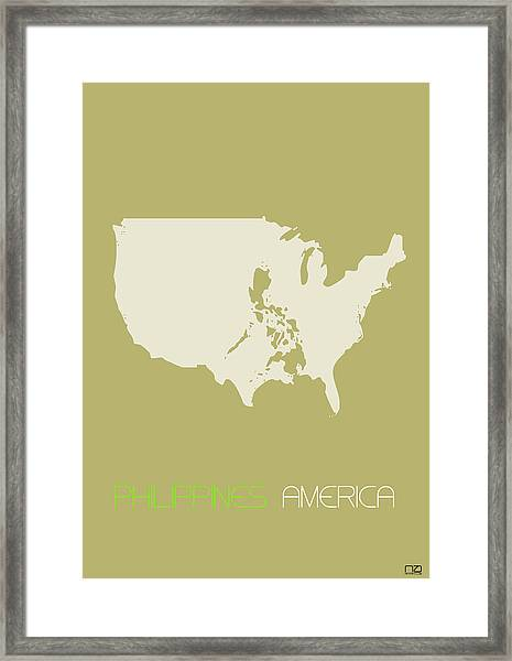 Philippines America Poster Framed Print by Naxart Studio