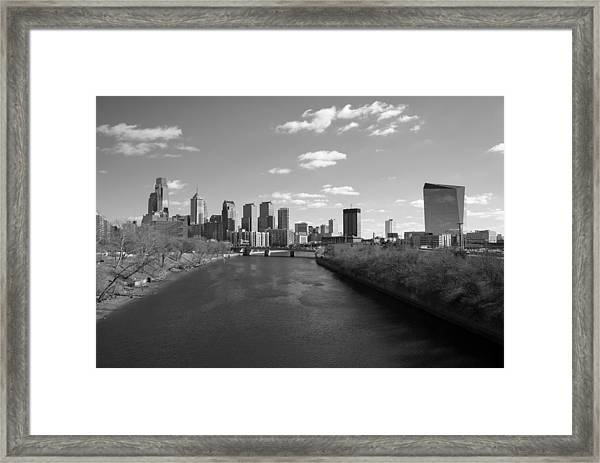 Philly B/w Framed Print