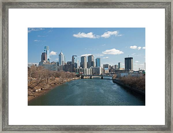 Philly Winter Framed Print
