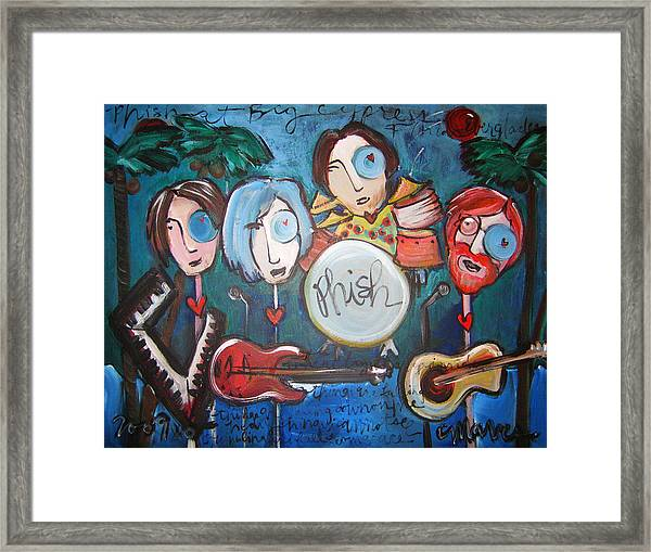 Framed Print featuring the painting Phish At Big Cypress by Laurie Maves ART
