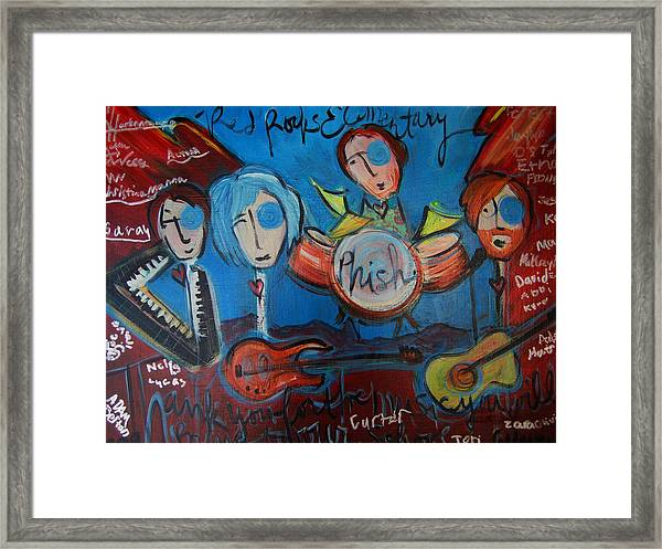 Framed Print featuring the painting Phish For Red Rocks Amphitheater by Laurie Maves ART