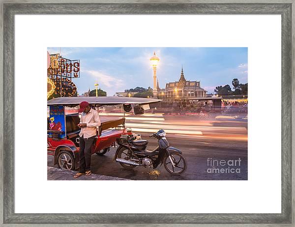Phnom Penh Tuk Tuk Framed Print