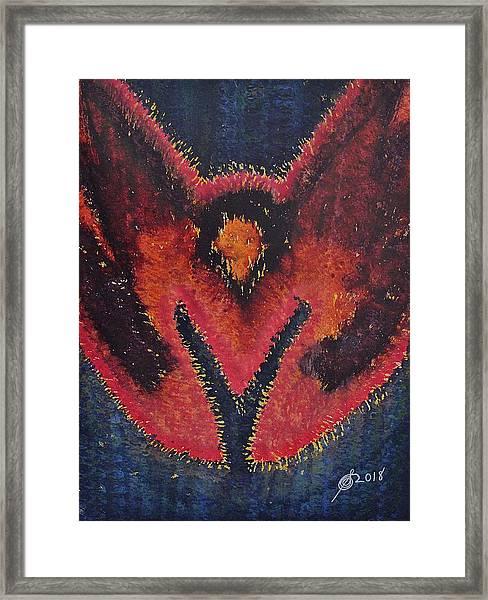 Phoenix Rising Original Painting Framed Print