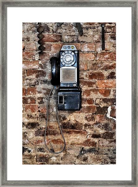 Pay Phone  Framed Print