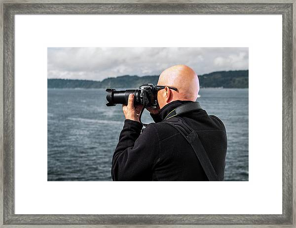 Photographer At Work Framed Print