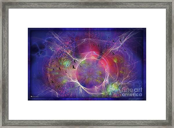 Photon-rings Framed Print