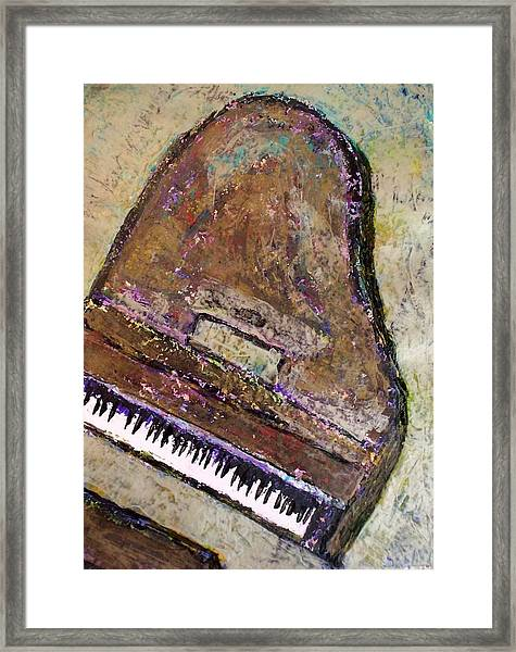 Piano In Bronze Framed Print