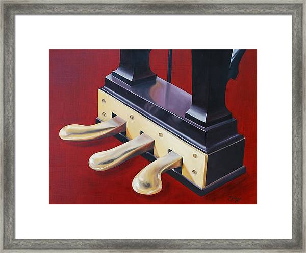 Piano Pedals Framed Print