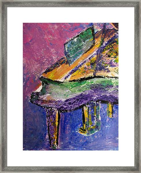 Piano Purple - Cropped Framed Print