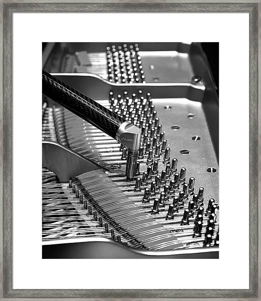 Piano Tuning Bw Framed Print
