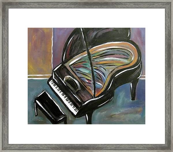 Piano With High Heel Framed Print