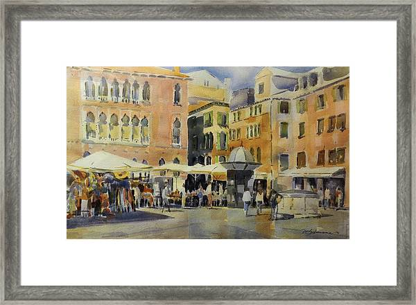 Piazza San Angelo Framed Print